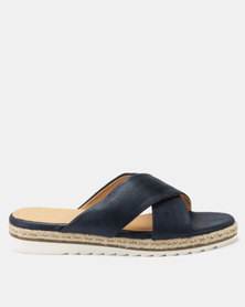 Queue Cross Over Espradrille Sandal Navy