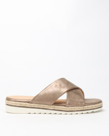 Queue Cross Over Espradrille Sandals Nude