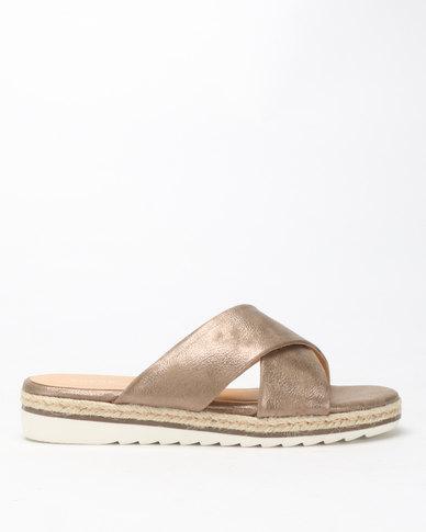 Queue Cross Over Espradrille Sandals Antrachite