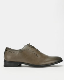Franco Ceccato Lace Up Perf Around Throat Shoes Khaki