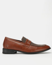 Franco Ceccato Two Tone Loafers Tan/Taupe