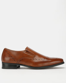 Franco Ceccato Slip On with Toe and Counter Spray Shoes Tan