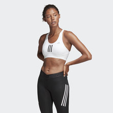 DON'T REST ALPHASKIN SPORT+ PADDED 3-STRIPES BRA