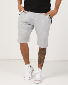 Soviet Andre Track Shorts Light Grey Melange