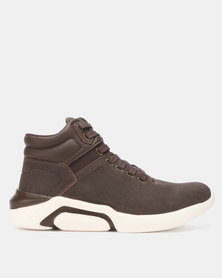 Jordan Tyco Lace Up Hi-Top Sneakers Brown