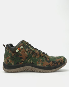 Bronx Men Invader Casual Lace Up Shoes Green