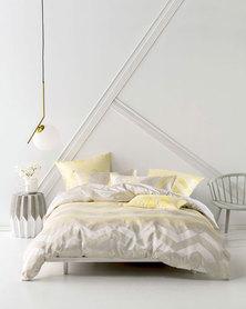 Linen House Moreton Duvet Cover Set Yellow