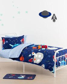 Linen House Moonwalk Duvet Cover Set Blue