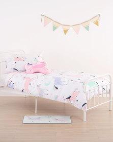 Linen House Unicorn Sky Duvet Cover Set Pink