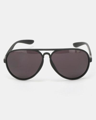 7df97ccba4 Lentes & Marcos Acacias Polarised Black Aviator Sunglasses | Zando