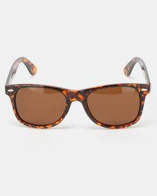 UNKNOWN EYEWEAR Wayfarer Polarised Sunglasses Tortoise