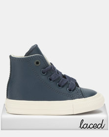Converse Ctas II Leather Td Hi Top Blue