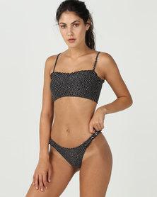 Billabong Masha Dot Bandeau Bikini Top Black