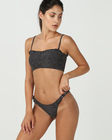Billabong Masha Dot Bandeau Bikini Bottoms Black