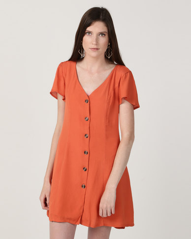Billabong Sunlight Dreamin Dress Orange