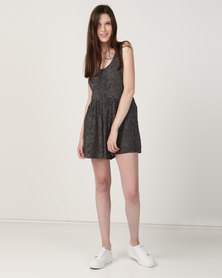 Billabong Cabo Masha Dot Playsuit Black