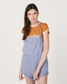 Billabong Wild Pursuit Overalls Blue