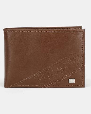 Billabong Lineup Flip Wallet Brown