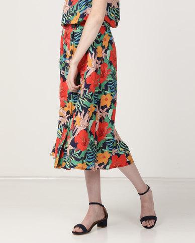 Good Clothing Button HW Skirt Tropical Multi