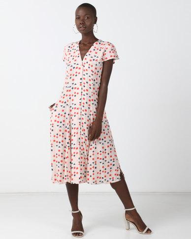 Good Clothing Skater Dress Pink Geo