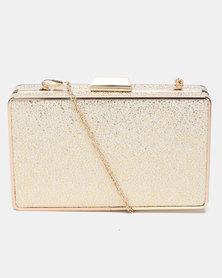 Blackcherry Bag Sparkle Clutch Gold
