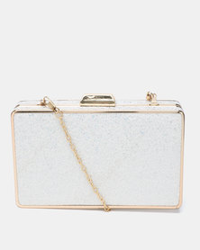 Blackcherry Bag Sparkle Clutch Silver