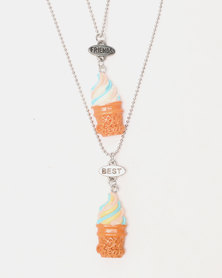 Cool Kids Ice-Cream BFF Pendant Chain