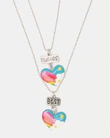 Cool Kids Heart BFF Pendant Chain