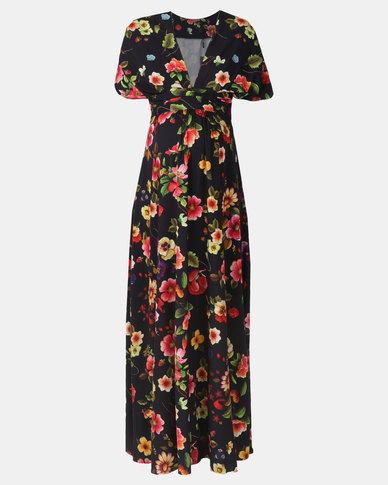 Me-A-Mama Stylist Dress Abstract Print Multi