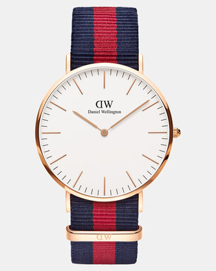 Daniel Wellington Men Classic Oxford 40mm DW00100001 Watch Rose Gold-plated