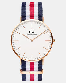 Daniel Wellington Men Classic Canterbury 40mm DW00100002 Watch Rose Gold-plated