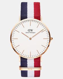 Daniel Wellington Men Classic Cambridge 40mm DW00100003 Watch Rose Gold-plated