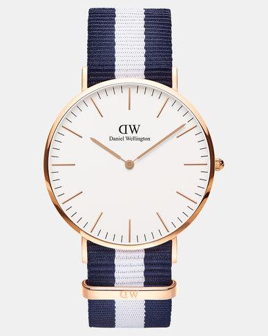 Gold Plated Rose Wellington Men 40mm Daniel Classic Glasgow Watch Dw00100004 SzMVpqGU