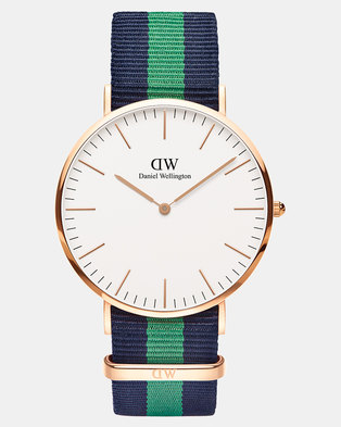 Daniel Wellington Men Classic Warwick 40mm Watch DW00100005 Rose Gold-plated