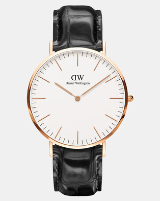 Daniel Wellington Men Classic Reading 40mm Watch DW00100014 Silver-plated