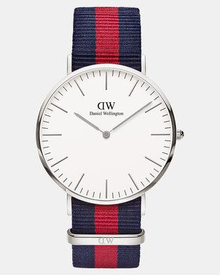 Daniel Wellington Men Classic Oxford 40mm DW00100015 Watch Silver-plated