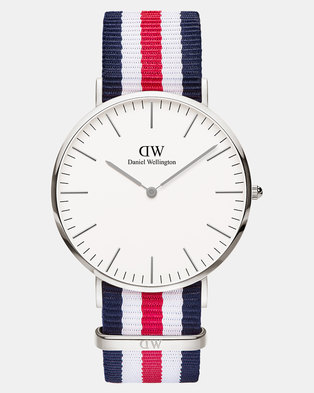 Daniel Wellington Men Classic Canterbury 40mm Watch DW00100016 Silver-plated