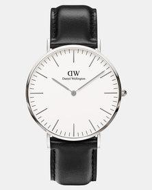 Daniel Wellington Men Classic Sheffield 40mm Watch DW00100020 Silver-plated