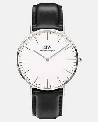 Daniel Wellington Men Classic Sheffield 40mm Watch DW00100020 Silver-plated