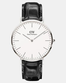 Daniel Wellington Men Classic Reading 40mm Watch DW00100028 Silver-plated