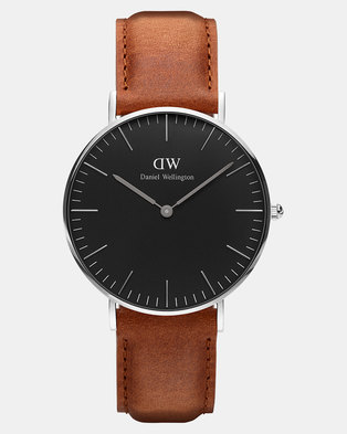 Daniel Wellington Men Classic Durham 40mm Watch Black/Silver