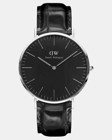 79ac30a33 Daniel Wellington Men Classic Reading 40mm Watch Black/Silver | Zando