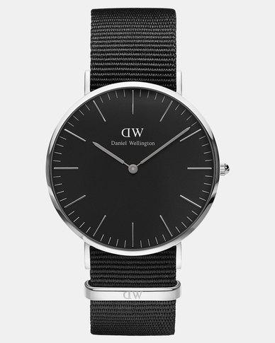 Daniel Wellington Men Classic Cornwall 40mm Watch Black/Silver