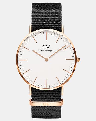 Daniel Wellington Men Classic Cornwall 40mm Watch Rose Gold