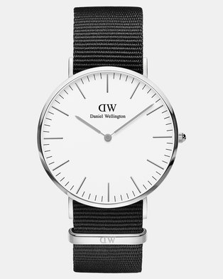 Daniel Wellington Men Classic Cornwall 40mm Watch Silver