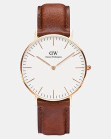 Daniel Wellington Women Classic St Mawes 36mm Watch Rose Gold