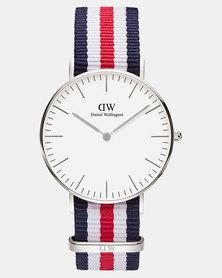 21d67562f527 Daniel Wellington Women Classic Sheffield 36mm Watch Silver