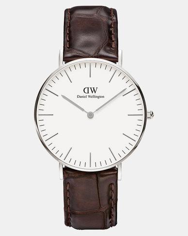 Daniel Wellington Women Classic York 36mm Watch Silver
