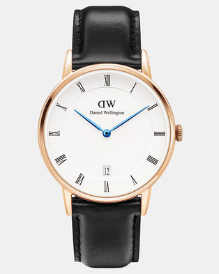 Daniel Wellington Men Dapper Sheffield 34mm Watch Rose Gold