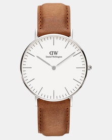 Daniel Wellington Women Classic Durham 36mm Watch DW00100112 Silver-plated